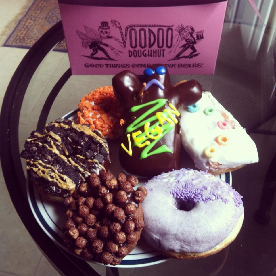 Pictured here are the Voodoo Doll, Gay Bar, Grape Ape, Triple Chocolate Penetration, Old Dirty Bastard, and a Butterfingring. All vegan <3