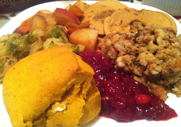 That's Tofurkey Roast on my plate from last year's Festivus dinner.