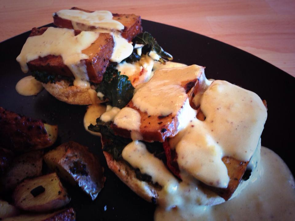 Smoked Tofu Benedict that I MADE FOR BRUNCH ON SUNDAY
