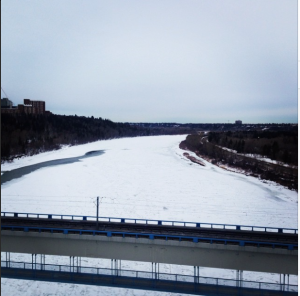 From Edmonton's High Level Bridge.