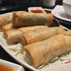 we started with spring rolls. alllll the spring rolls for us.